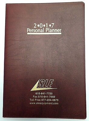 2017 Academic Monthly Day Daily Planner Organizer Calendar 7x10 Red