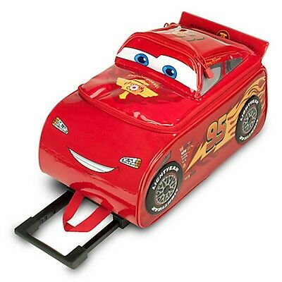 Disney Store Cars LIGHTNING MCQUEEN Rolling Suitcase Luggage Child Carry On Bag