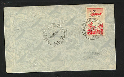 Morocco  airmail  semi postal stamp on cover         SR0524
