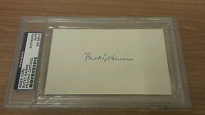 Bucky Harris PSA/DNA UNLINED Index Card Authentic Auto Autograph Signed