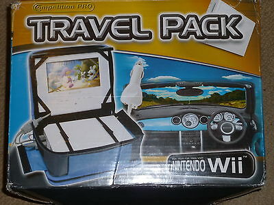 NINTENDO Wii PORTABLE 7 inch LCD SCREEN PACK TRAVEL CARRY CASE & IN CAR CHARGER
