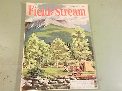 VINTAGE 1962 FEBRUARY Field & Stream Magazine  35 CENTS GREAT ADS, AND ARTICLES