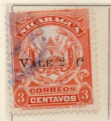 Nicaragua 1910 Early Issue Fine Used 2c. Surcharged 110930