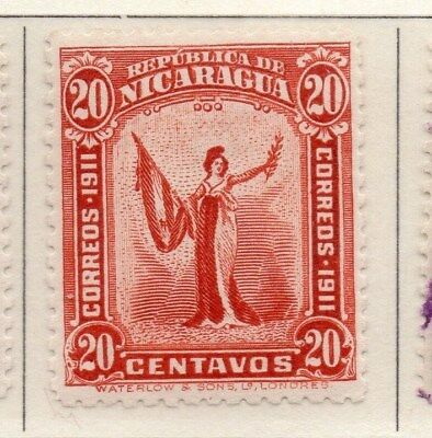 Nicaragua 1912 Early Issue Fine Mint Hinged 20c. 110966