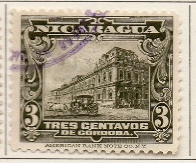 Nicaragua 1922-23 Early Issue Fine Used 3c. 111030