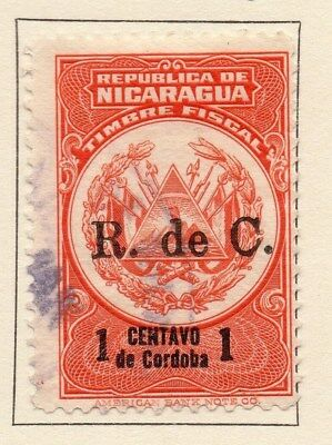 Nicaragua 1924 Early Issue Fine Used 1c. Surcharged 111039