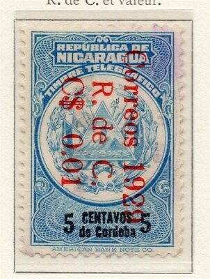 Nicaragua 1928-29 Early Issue Fine Used 5c. Surcharged 111069