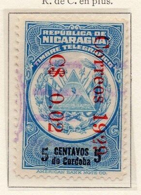 Nicaragua 1928-29 Early Issue Fine Used 5c. Surcharged 111072