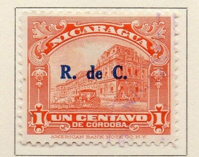 Nicaragua 1929 Early Issue Fine Used 1c. Surcharged 111082