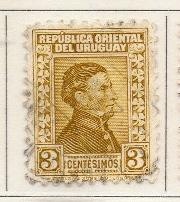 Uruguay 1928 Early Issue Fine Used 3c. 111128