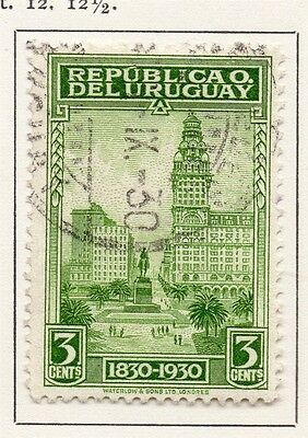 Uruguay 1930 Early Issue Fine Used 3c. 111140