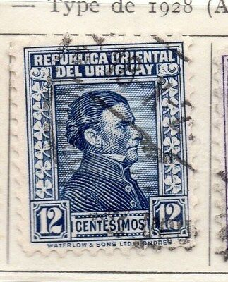 Uruguay 1932 Early Issue Fine Used 12c. 111152