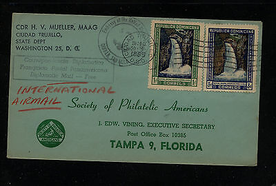 Dominican  Reupublic US  diplomatic cover to US  1955         KL1220