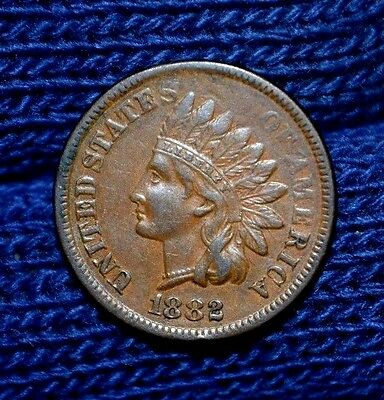 1882 Indian Head Cent***FULL LIBERTY***Nice Brown**XF details