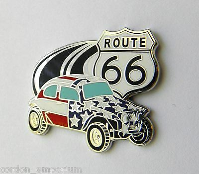 Vw Volkswagen Car Beach Bug Usa Route 66 Lapel Pin Badge 1 Inch