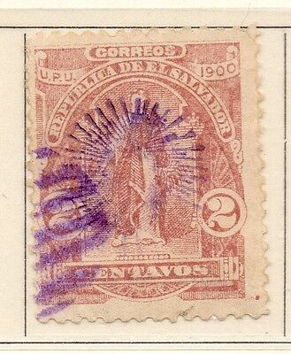 El Salvador 1900-01 Early Issue Fine Used 2c. Optd 111227
