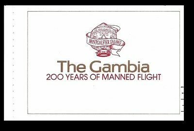 Gambia 1983 Manned Flight Booklet Sc# 493-97 NH