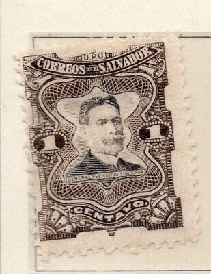 El Salvador 1910 Early Issue Fine Mint Hinged 1c. 111285