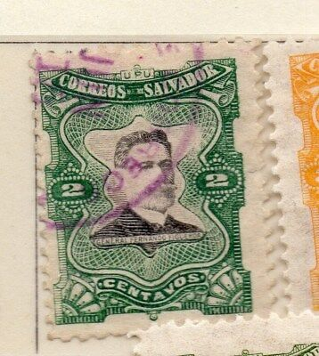 El Salvador 1910 Early Issue Fine Used 2c. 111286
