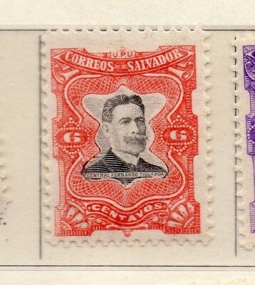 El Salvador 1910 Early Issue Fine Mint Hinged 6c. 111290