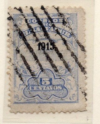 El Salvador 1915 Early Issue Fine Used 5c. Optd 111330