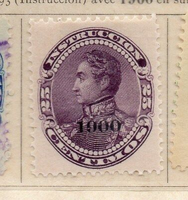 Venezuela 1900 Early Issue Fine Mint Hinged 25c. Optd 111336
