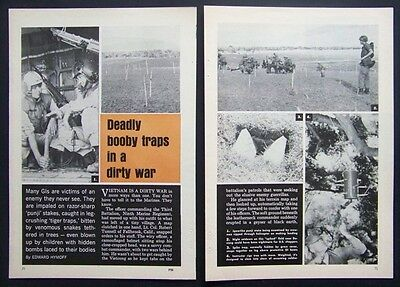 Vietcong & US Special Forces Bobby Traps Vietnam Dirty War 1966 pictorial