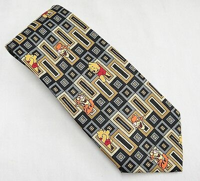 Disney Winnie the Pooh and Tigger Neck Tie Brown and Blue