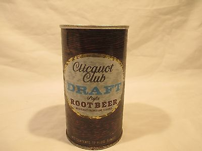 Clicquot Club Root Beer Straight Steel Pop Soda Can