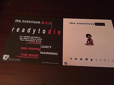 Two THE NOTORIOUS BIG Ready To Die Promo 2 Sided LP Flats