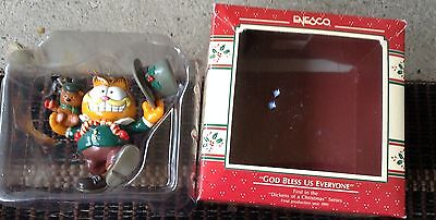 """Enesco Garfield  """"God Bless Us Everyone"""" Christmas Ornament with BOX"""
