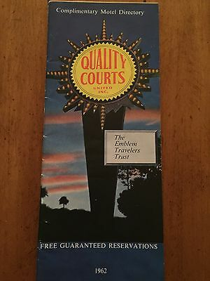 Vintage 1962 Quality Courts Motels Directory 48 Pages
