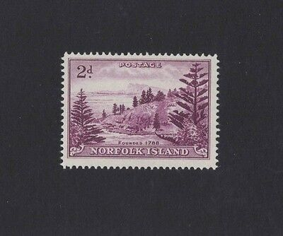 1956 Norfolk Islands SG 4a white paper muh