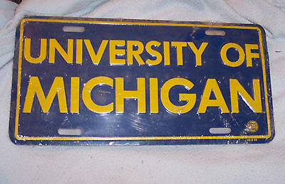 University Of Michigan License Plate Sealed In Plastic