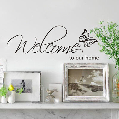 Hot DIY Quote Removable Vinyl Decal Wall Stickers Home Decor Welcome to our home