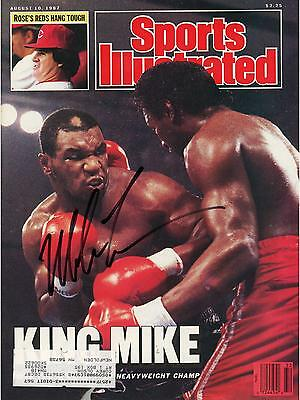 Mike Tyson Autographed Sports Illustrated King Mike Magazine