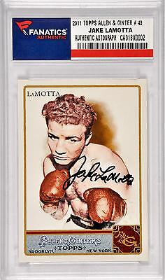 Jake LaMotta Boxing 2008 Autographed 2008 Topps Allen & Ginter #43 Card
