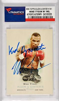 Mike Tyson Boxing Autographed 2006 Topps Allen & Ginter Card Signed with Insc