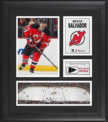 Limited Edition Bryce Salvador NHL NJ Devils Framed 15x17 Collage with Game Puck