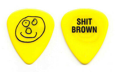 Black Crowes Marc Ford Sh*t Brown Yellow Guitar Pick - 1994 Tour