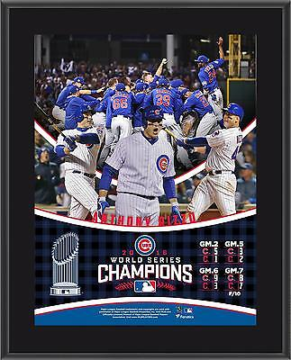 Anthony Rizzo Chicago Cubs 2016 MLB World Series Champions 10.5 x 13 Plaque