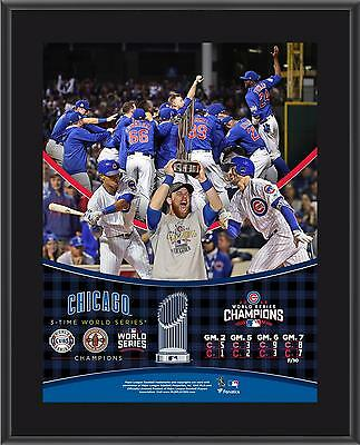 Chicago Cubs 2016 MLB World Series Champions 10.5 x 13 Sublimated Plaque