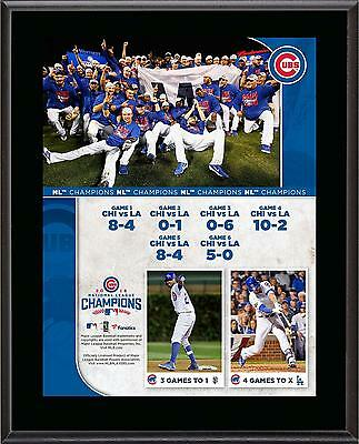 "Chicago Cubs 2016 MLB National League Champions 10.5"" x 13"" Sublimated Plaque"