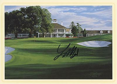 Larry Mize Autographed Masters 18th Hole Scorecard