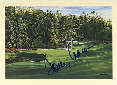 Tommy Aaron Autographed Masters 11th Hole Postcard