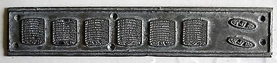 India Vintage Zinc Metal Printing block wood base Removed from back of Zinc