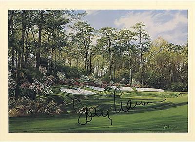 Tommy Aaron Autographed Masters 13th Hole Postcard