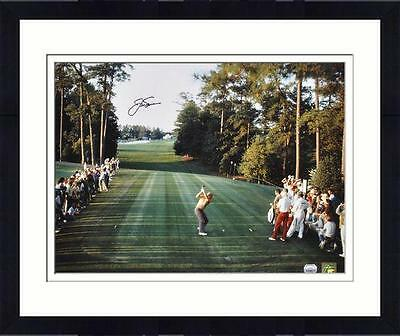 "Framed Jack Nicklaus Autographed 16"" x 20"" 1986 Masters Photograph"