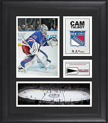 Cam Talbot NHL NY Rangers Framed 15x17 Collage w/ Game-Used Puck Piece