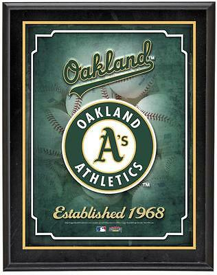"Oakland Athletics Team Logo Sublimated 10.5"" x 13"" Plaque"